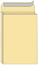 Envelop Quantore monsterzak 185x280x38mm zelfkl creme 125st