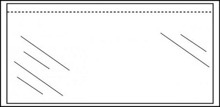 Paklijstenvelop Quantore zelfklevend blanco 230x121mm 1000st