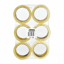 Verpakkingstape Scotch 371 50mmx66m transparant PP 6 rollen