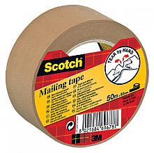 Verpakkingstape Scotch P5050 50mmx50m bruin papier