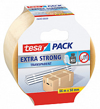 Verpakkingstape Tesa 50mmx66m transparant extra sterk PVC
