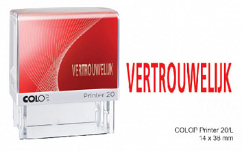 Woordstempel Colop Printer 20 vertrouwelijk rood