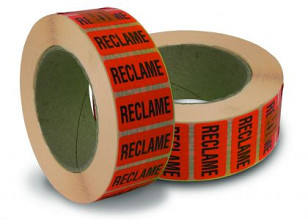 Stickers reclame 40x21mm rol a 2000 st