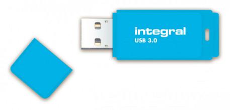 USB-stick 3.0 Integral 64GB neon blauw