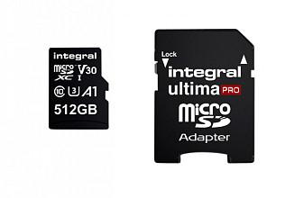 Geheugenkaart Integral microSDXC V30 512GB