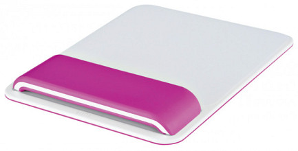 Muismat Leitz WOW Ergo met verstelbare polssteun Roze