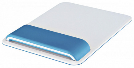 Muismat Leitz WOW Ergo met verstelbare polssteun Blauw
