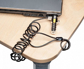 Beveiligingsset Kensington portable laptop lock metaal/zwart