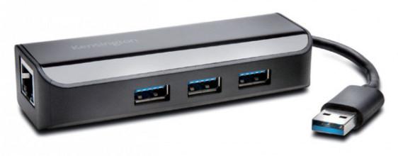 Kabel Kensington Ethernet adapter met Hub USB 3.0