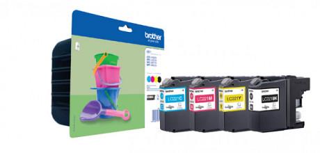 Inktcartridge Brother LC-221VALBP zwart + 3 kleuren