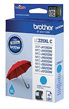 Inktcartridge Brother LC-225XLC blauw HC