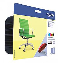 Inktcartridge Brother LC-229XLVALBP zwart + 3 kleuren HC