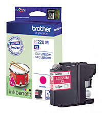 Inktcartridge Brother LC-22U rood