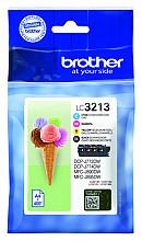 Inktcartridge Brother LC-3213 zwart + 3 kleuren