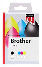 Inktcartridge Quantore Brother LC-123 zwart + 3 kleuren
