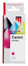 Inktcartridge Quantore Canon CLI-521 rood+chip