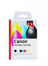 Inktcartridge Quantore Canon PGI-550XL CLI-551XL zwart + 4 kleuren