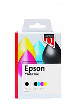 Inktcartridge Quantore Epson 26XL T2636 zwart 3 kleuren
