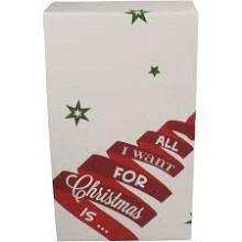 Wijnflesdoos 2 flessen 190x95x330mm 'All I want for Christmas' per stuk