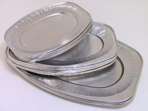 Schaal aluminium ovaal 45cm 10 stuks