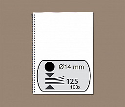 Draadrug Fellowes 14mm 34-rings A4 zwart 100stuks