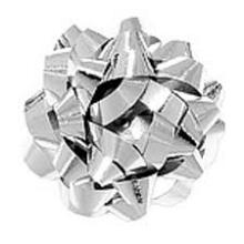Starbow minibow metallic zilver 25mm 75 stuks