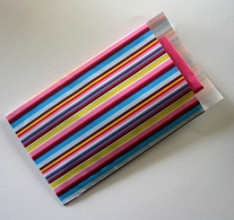 Cadeauzakjes 07x13cm 250 stuks gestreepte kleuren 3018