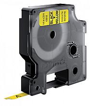 Labeltape Dymo 43618 D1 720790 6mmx7m zwart op geel