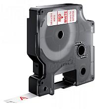 Labeltape Dymo 40915 D1 720700 9mmx7m rood op wit