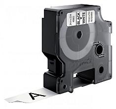 Labeltape Dymo 45803 D1 720830 19mmx7m zwart op wit
