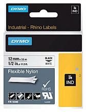 Labeltape Dymo Rhino 18488 nylon 12mmx3.5m zwart op wit