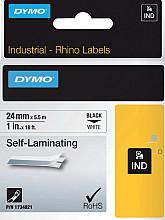 Labeltape Dymo Rhino 1734821 viny 24mmx5.5m zwart op wit