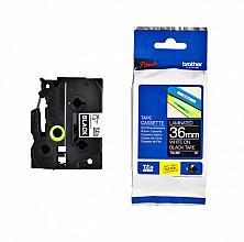 Labeltape Brother P-touch TZE-365 36mm wit op zwart