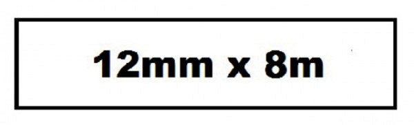 Labeltape Quantore TZE-231 12mm x 8m zwart op wit