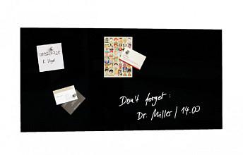 Glasbord Sigel magnetisch 910x460x15mm zwart