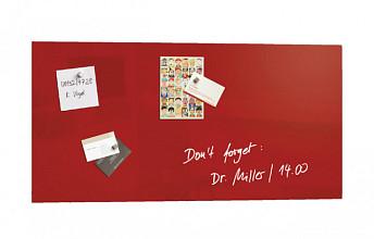 Glasbord Sigel magnetisch 910x460x15mm rood