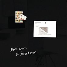 Glasbord Sigel magnetisch 1000x1000x18mm zwart