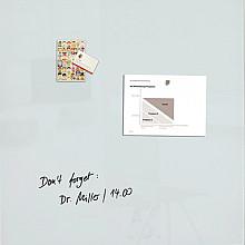 Glasbord Sigel magnetisch 1000x1000x18mm wit