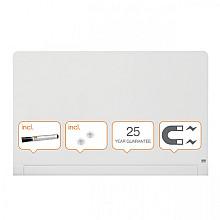 Glasbord Nobo Impression Pro afgeronde hoeken 1260x710mm briljant wit