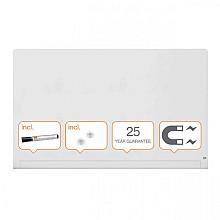 Glasbord Nobo Impression Pro afgeronde hoeken 1900x1000mm briljant wit