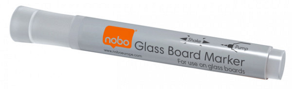 Viltstift Nobo glasbord wit
