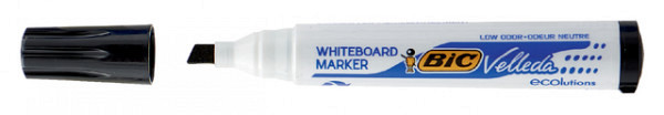 Viltstift Bic 1751 whiteboard schuin zwart 3.7-5.5mm