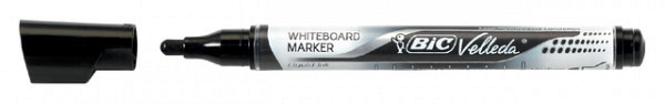 Viltstift Bic Liquid whiteboard rond zwart medium
