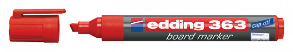 Viltstift edding 363 whiteboard beitel rood 1-5mm