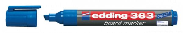 Viltstift edding 363 whiteboard beitel blauw 1-5mm
