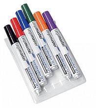Viltstift Legamaster TZ1 whiteboard rond assorti 1.5-3mm 6st