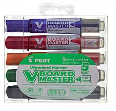 Viltstift PILOT Begreen whiteboard rond assorti 2.3mm 5stuks
