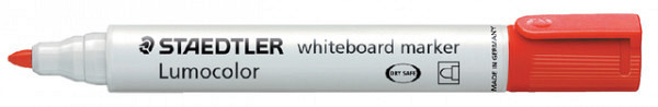 Viltstift Staedtler 351 whiteboard rond rood 2mm