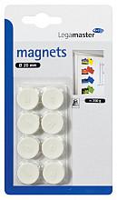 Magneet Legamaster 20mm 250gr wit 8stuks