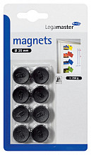 Magneet Legamaster 20mm 250gr zwart 8stuks